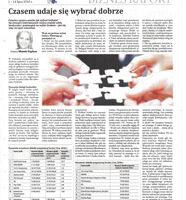 Gazeta Finansowa - Joanna Miazek-Pypłacz - Czasem udaje się wybrać dobrze